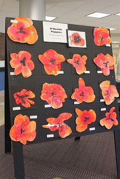 Kindergarten Gorgia o'keeffe poppies.