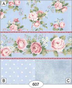 Wallpaper - Nostalgic Rose - Blue