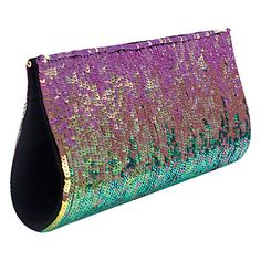 French Connection Sizzle Sequins Clutch