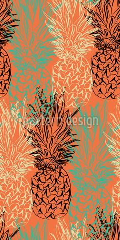 Pineapple Lines Pattern Design Vector Pattern, Pattern Design, Fruit Pattern, Exotic Fruit, Line Patterns, Tropical Vibes, Surface Design, Line Art, Your Design