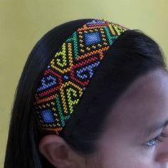 vinetabalacas Loom Bracelet Patterns, Bead Loom Patterns, Peyote Patterns, Loom Bracelets, Beading Patterns, Ribbon Jewelry, Seed Bead Jewelry, Beaded Jewelry, Collar Indio