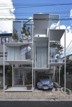 "House NA  Architect: Sou Fujimoto 藤本壮介  Tokyo, Japan 2011. BBC Boracay says: "" Thinking out of the box. Confirmed by the cute 2CV..."""