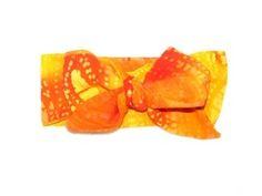 Baby Head Wrap - Orange Bahama @ Lucy Loo Babygear! lucyloobabygear.bigcartel.com