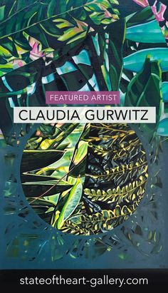 Botanical paintings by Claudia Gurwitz, South African artist and featured online this month by StateoftheART Online Gallery African Plants, South African Artists, Gustav Klimt, Natural Forms, Online Gallery, My Images, Printmaking, Paintings, Abstract