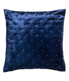 Velvet Cushion Cover   Dark blue   H&M HOME   H&M US