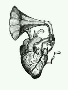Heart gramophone