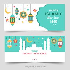 Terbaru Islamic Banner Vector 30 Dengan Ide Menu Sahur with Islamic Banner Vector Eid Mubarak Stickers, Eid Stickers, Happy New Year Design, New Year Designs, Banner Vertical, Hijri Year, Eid Card Designs, Happy Islamic New Year, Ramadan Poster