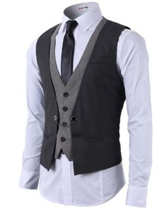 H2H Mens Fashion Business Suit Layered Vest With Chain Rings CHARCOAL US L/Asia XL (CMOV01) H2H http://www.amazon.com/dp/B00EDCZPQ0/ref=cm_sw_r_pi_dp_p6MEub0Y0E844