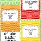 Get organized each school year with this teacher planner set. This set is currently available in Rainbow Hexagonal {viewing}, Chevron, Plain, Black...