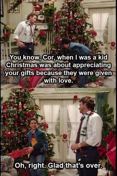 boy meets world christmas. lol.