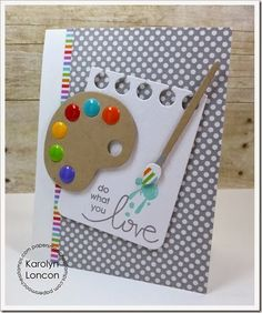 Card by PS DT Karolyn Loncon using the Paper Smooches Group Hugs stamp set along with the Paint Palette and Notebook Basic dies Paper Smooches, Card Making Inspiration, Card Tags, Card Kit, Kids Cards, Cool Cards, Creative Cards, Greeting Cards Handmade, Scrapbook Cards