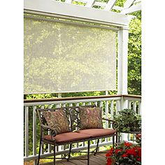 Radiance Indoor/Outdoor Sahara Roll Up Window Sun Shade Blind   Sand