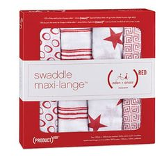 (RED) Special Edition classic swaddles - 4 Pack