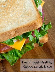 Fun, Frugal, Healthy School Lunch Ideas