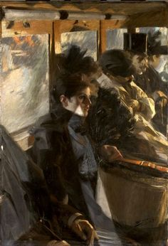 The livliness of [Anders] Zorn's thick, energetic brushwork captivated audiences on both sides of the Atlantic, making Zorn one of the most sought after portrait painters at the turn of the 20th century. Between 1890 and 1914, for example, Anders Zorn had works included in 70 shows within the German Empire.