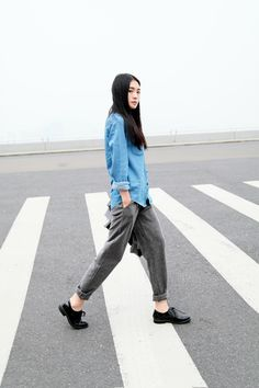 Simple and boyish -- Chinese Asian fashion