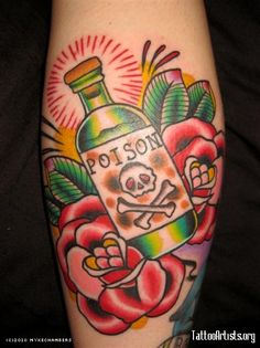 Poison American Traditional Tattoo