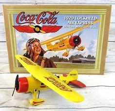 Coca Cola 1929 Lockheed Air Express Die Cast Metal Coin Bank 1994 Ertl Co, Inc