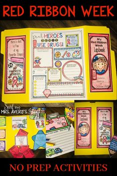 Freshen up this year's Red Ribbon Week and your drug education lesson plans with this HUGE bundle of engaging activities.  Your students will LOVE these no prep printables as you teach them the importance of living a drug free life during National Red Ribbon Week!  Click the link to see what other teachers are saying! #redribbonweek #druged #drugeducation #justsaynotodrugs #lessonplans #redribbonweekactivities #octoberactivities