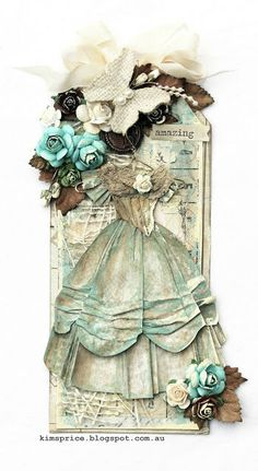School Days Layout, A Mask and Shabby Tag for Green Tara