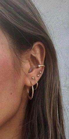 Copper minimalist serpentine ear cuff, minimalist steampunk ear cuff, no piercing industrial ear cuff, handmade wire ear cuff, ear climber - Custom Jewelry Ideas Ear Jewelry, Bridal Jewelry, Gold Jewelry, Jewelery, Jewelry Necklaces, Fine Jewelry, Gold Bracelets, Tiffany Jewelry, Flower Jewelry