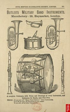 Advert For Butler's Military Band Instruments