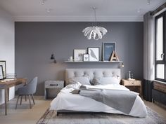 Make Your Fall Season perfectly with these Fall Bedroom Decorating Ideas. Fall bedroom ideas according to Fall or Autumn colors. Small Master Bedroom, Gray Bedroom, Trendy Bedroom, Bedroom Colors, Home Bedroom, Modern Bedroom, Master Bedrooms, Grey Bedroom Design, Budget Bedroom