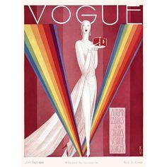 Eduardo Garcia Benito's Art Deco-inspired illustration for the September 1st, 1926 cover story of American Vogue.