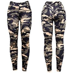 9ae6ab4d9f15 New Army Casual Fashion Women Pants Female Military Denim Trousers Tight  Elastic High Waist Camouflage Pencil Pants for Women