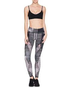 ROCKELL 7/8 COMPRESSION TIGHT MIDNIGHT PALM - Vie Activewear