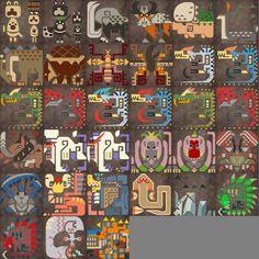 In-universe character artwork in games - Monster Hunter 4 Stock Character, Character Design, Hunter Tattoo, Hunter Logo, Monster Hunter Art, Candy House, Video Game Art, Simple Art, Fantasy Creatures