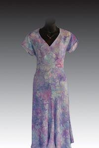 Marbled Silk Tap Dress