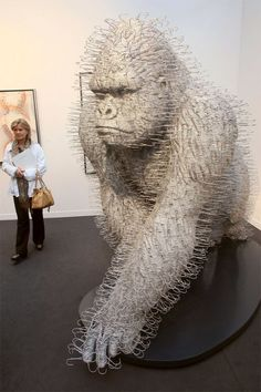 Coat Hanger Gorilla by Scottish artist and sculptor David Mach.