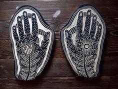 Image of Set of Flower Hands by Bryn Perrott
