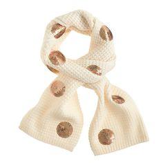 Girls' sequin dot scarf