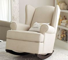Wingback Rocker and Ottoman