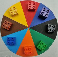 Přikládání kostek Lego Duplo podle barev #batole #legoduplo #lego #barvy #toddler #colors #matchingcolors Lego Duplo, Montessori, Ideas, Lego Duplo Table, Thoughts