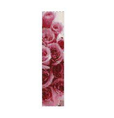 Peyote Bracelet Pattern Pink Roses Her First by KarenBrunsDesigns