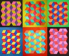 3rd Grade Op Art | elementary art lessons | Pinterest | Art and Op art