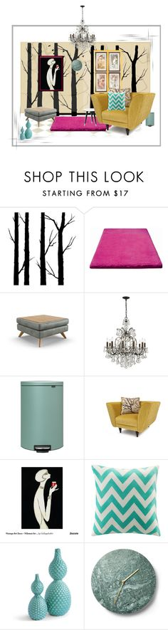 """my space"" by lindagama on Polyvore featuring interior, interiors, interior design, home, home decor, interior decorating, Dot & Bo, ESPRIT, Joybird Furniture and Swarovski"