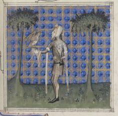 Guillaume de Machaut, Poésies: Jugement du roi de Bohème, dit Jugement du roi de Behaigne (1-22v), Remède de Fortune (23-58v), Dit de l'Alérion (59-92v), Dit du Verger (93-102v), Dit du Lion (103-120v), Louange des Dames (120v-148v), Lais, motets, ballades, rondeaux et virelais (148v-225). Auteur : Guillaume de Machaut. Auteur du texte Date d'édition : XIVe s. (ca. 1350-1355) Type : manuscrit