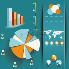 Set of Infographic Elements. World Map and Information Graphics  photo