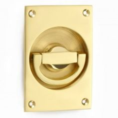 Polished brass flush handles for sliding or folding doors in 21 finishes.