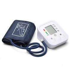 Upper Arm Electronic Digital Blood Pressure Pulse Monitor Portable Sphygmomanometer Meter Full Automatic at Banggood