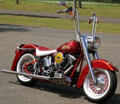 Red Choppers HD Fat Boy Cassino    I would ditch the ape hangers or bring 'em down 3-4 inches