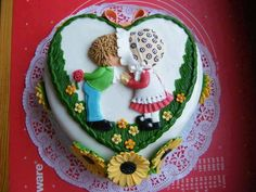 Boy and girl kissing cake Pretty Cakes, Cute Cakes, Beautiful Cakes, Amazing Cakes, Beautiful Beautiful, Valentines Day Cakes, Online Cake Delivery, Gateaux Cake, Cake Shop