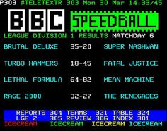 TeletextR: Speed ball Results by Carlos