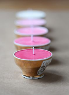 DIY ombre candles