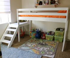 Posts about loft bed plans ana white written by White Loft Bed, White Bunk Beds, Wooden Bunk Beds, Bunk Beds With Stairs, Full Bunk Beds, Tiny House Loft, Boys Loft Beds, Kid Beds, Diy Bed Loft