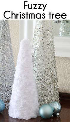 DIY Christmas tree cone craft